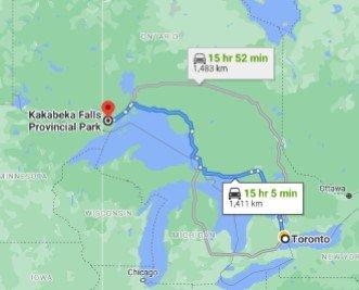 Kakabeka Falls Provincial Park Driving Map