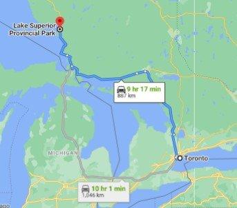 Lake Superior Provincial Park Driving Map